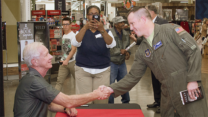 National hero visits Travis