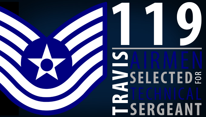 119 Travis Airmen selected for promotion to technical sergeant